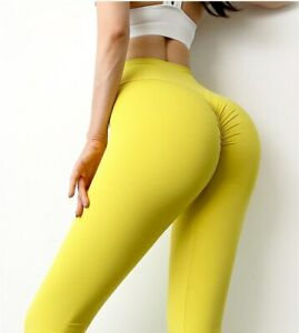 Female High Waist Fitness Workout Sports Pants Naked-Feel Fabric Sports Clothes