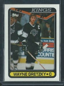1990-91 Topps Hockey Wayne Gretzky Card # 120 in Mint or Better Condition