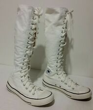 CONVERSE WHITE HIGH TOP LACE KNEE CALF SNEAKER BOOTS SIZE MENS 6