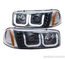 Black Clear U-Bar Projector Headlights fits Sierra/Yukon XL Denali Anzo 111303