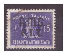 TRIESTE A - 1949   RECAPITO   15 LIRE   USATO