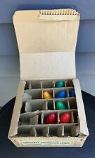 Vintage C7 Christmas bulbs lights lamps General Electric Japan orig box tested