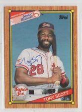 Tony Scott 1989 Pacific Senior League autographed auto signed card
