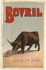 c1910 Advert PC BOVRIL H. M. & CO. FAMOUS POSTERS IN MINIATURE unposted