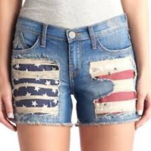 Rock & Republic Hula Flag Pockets Jean Shorts 10