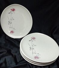 Franciscan Duet Pink Rose - Dinner Plates - Very Good Condition - Set of 5