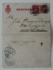Sweden 1903  10 Ore Uprated Trelleborg Sassnitz Berlin  Postal Card / Stationery