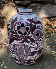 Vintage Mid Modern Royal Copenhagen Faience Vase Signed