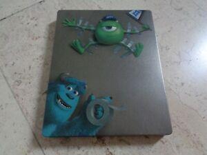 MONSTERS INC & MONSTERS UNIVERSITY 3Disc Blu-ray SteelBook DOUBLE FEATURE DISNEY