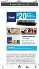 LOWE'S $20 off $100+ Guarantees   Exp:1/31/21 Can be emailed. IN STORE & ONLINE