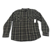 Volcom Mens Long Sleeve Flannel Shirt Sherpa Ferdinand Brown Plaid Variety Sizes