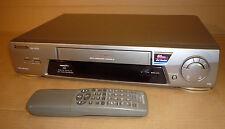SILVER PANASONIC VIDEO TAPE PLAYER/RECORDER VCR NTSC VHS NV-FJ610 SUPER DRIVE