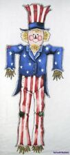 New Uncle Sam Scarecrow Sewing Fabric Daisy Kingdom Door Hanging Plus Appliques