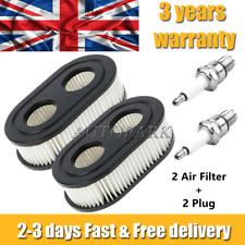 More details for 2 air filter + 2 plug for briggs & stratton 500e 550e 550ex 625ex 675exi 593260