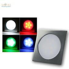 3 pièce LED Projecteur Encastré au sol RGB Carré Lampe sur pied