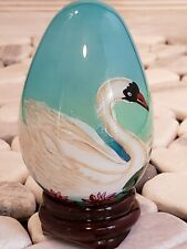 Hand Blown Painted Glass Egg