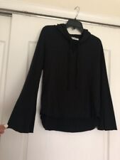PROJECT SOCIAL T Black Hoodie Sweatshirt Top With Bell Sleeves SzS NWT
