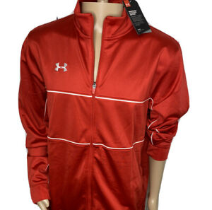 Under Armour Track Jacket Rival Knit Training Warm Up Full Zip Red Men 2XL NWT