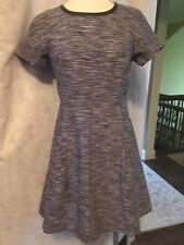 NWT MADEWELL TEXTURED  DRESS Sz 2 Black Fit and Flare CUTE!!  J Crew Co