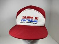 Vintage 70s 80s Hale Fire Pump Red Mesh Snapback Trucker Hat Cap USA
