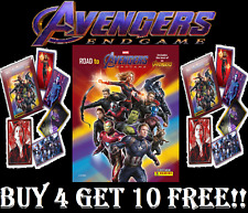 Panini Marvel Avengers Endgame  BUY 4 GET 10 FREE 1-192 Stickers & C1-C50 Cards