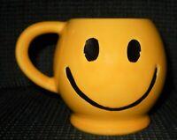 Vintage McCoy Pottery Yellow Happy - Smiley Face Mug