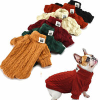 Hand Knit Dog Sweaters Clothing Chihuahua Clothes Soft for Small Dog Pet Puppy