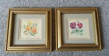 Pair of Pretty Floral Prints by Gillean Whitaker