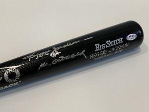 Reggie Jackson Mr. October Signed Autograph Rawlings Big Stick Bat PSA DNA