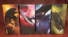 2008 Star Trek Lot of 4 Complete Burger King Collectible Glasses Kirk Spock NIB