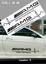 black NEW A.M.G Driving Emblem Fender Side Badge Waistline Sticker Door Decal