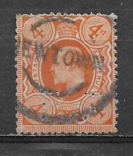 Great Britian , 1911 , Edward Vii , 4p Stamp , Perf , Used , Cv$17.50