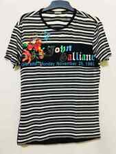 Galliano rayon striped and floralt shirt