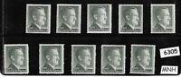 #6305  MNH 1RM Adolph Hitler Third Reich stamp lot / 1942-1944 /  Sc524 & Sc524a