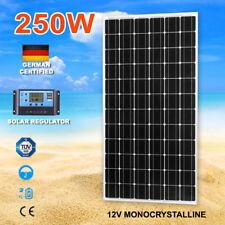 250W Mono Solar Panel Kit Charging Regulator Caravan Battery 12V With Regulator
