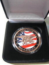 US NAVY SEALS Challenge Coin (Copper) w/ Presentation Box