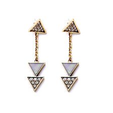 Rings`Ears Nails Golden Pendant Art Deco Triangle Long end BB 9