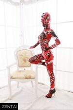 Red animal pattern color Full Body Holloween Zentai Unisex Catsuit S/M/L/XL/XXL