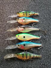 (6) Rapala Suspending Shad Rap #5 Crankbaits, Lot of 6 SRRS05 fishing lures