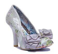 Irregular Choice Ascot Women Other Fabric Silver Closed Toe Pumps Size UK 3 - 8