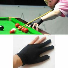 Unisex Black Elastic Left Three Fingers Snooker Billiards Cue Gloves Accessories