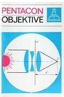 Broschüre Pentacon Objektive