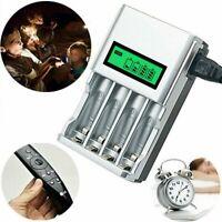 Akku Batterie Aufladegerät LCD Ladegerät für 4 AA AAA Schnelladegerät Universal
