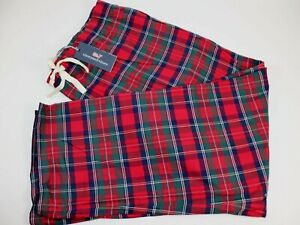 NWT $75 VINEYARD VINES Size 4XT Men's Red Tartan Plaid Flannel Lounge Pant