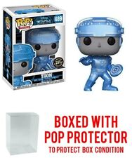 Funko Pop Movies Disney Tron #489 Metallic Glow Chase Vinyl Figure w/Protector
