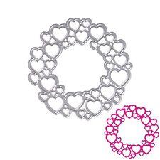Metal Circle Heart Cutting Dies Stencils DIY Scrapbooking Album Paper Card Craft
