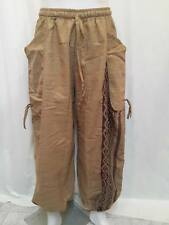 HIPPIE PANTS Islamic TROUSERS Reggae rasta ROPE tribal egypt PANTALON brown vtg