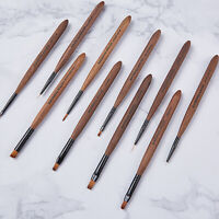 Professional Kolinsky Acrylic Nail Art Brush Manicure Powder Wooden Handle Tool
