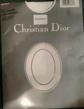 New Christian Dior 1X Silken Pantyhose Sandalfoot Full Figure White 4473 Hosiery