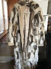 Bebe Rabbit Fur Coat Small Beige